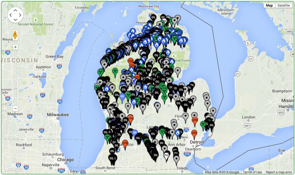 Michigan Spill Locations