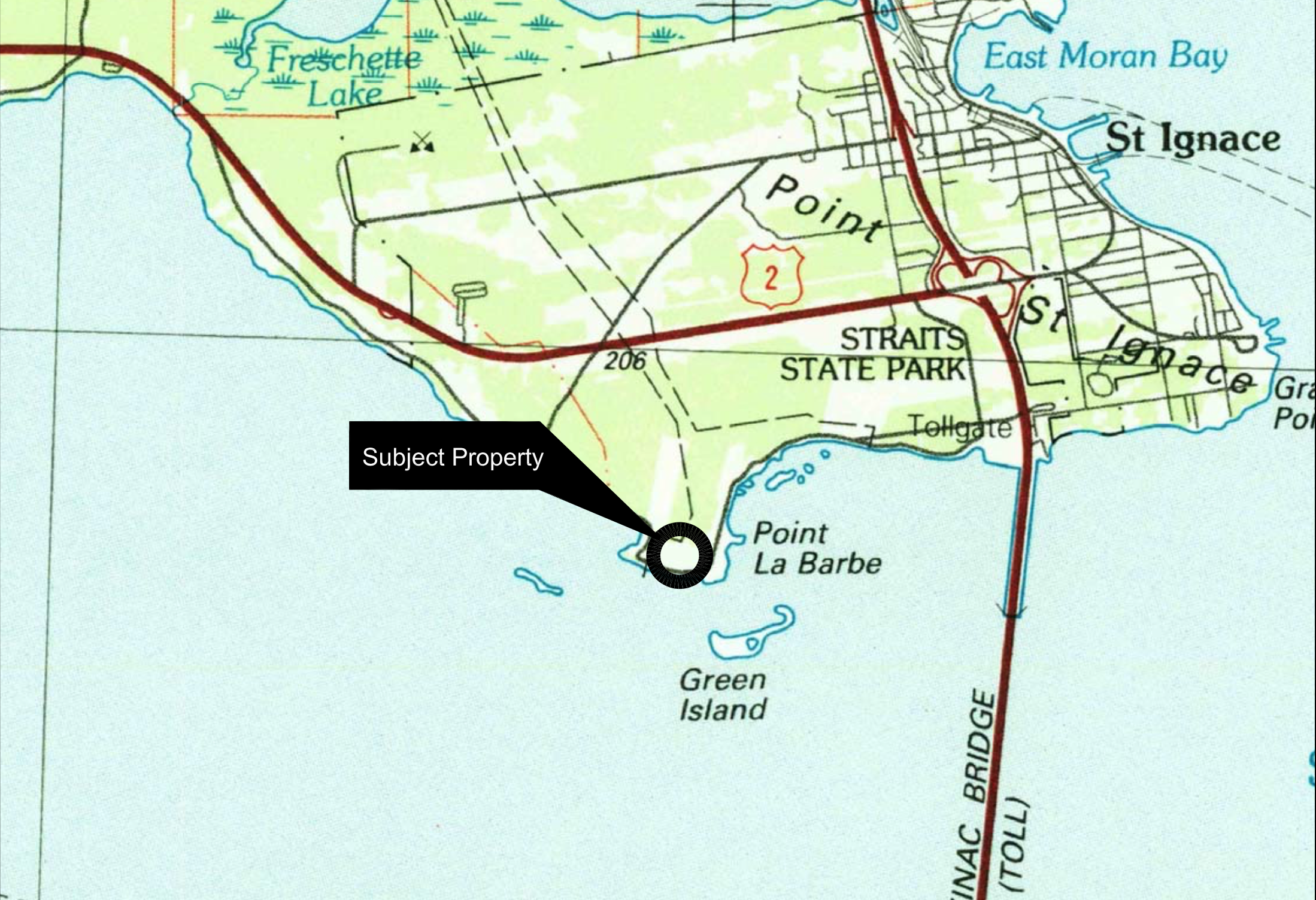 Map North Straits Pump Station
