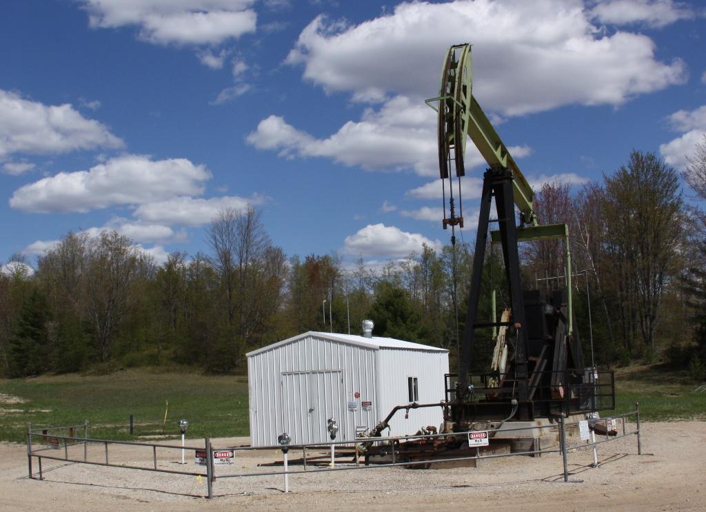 Michigan oil well