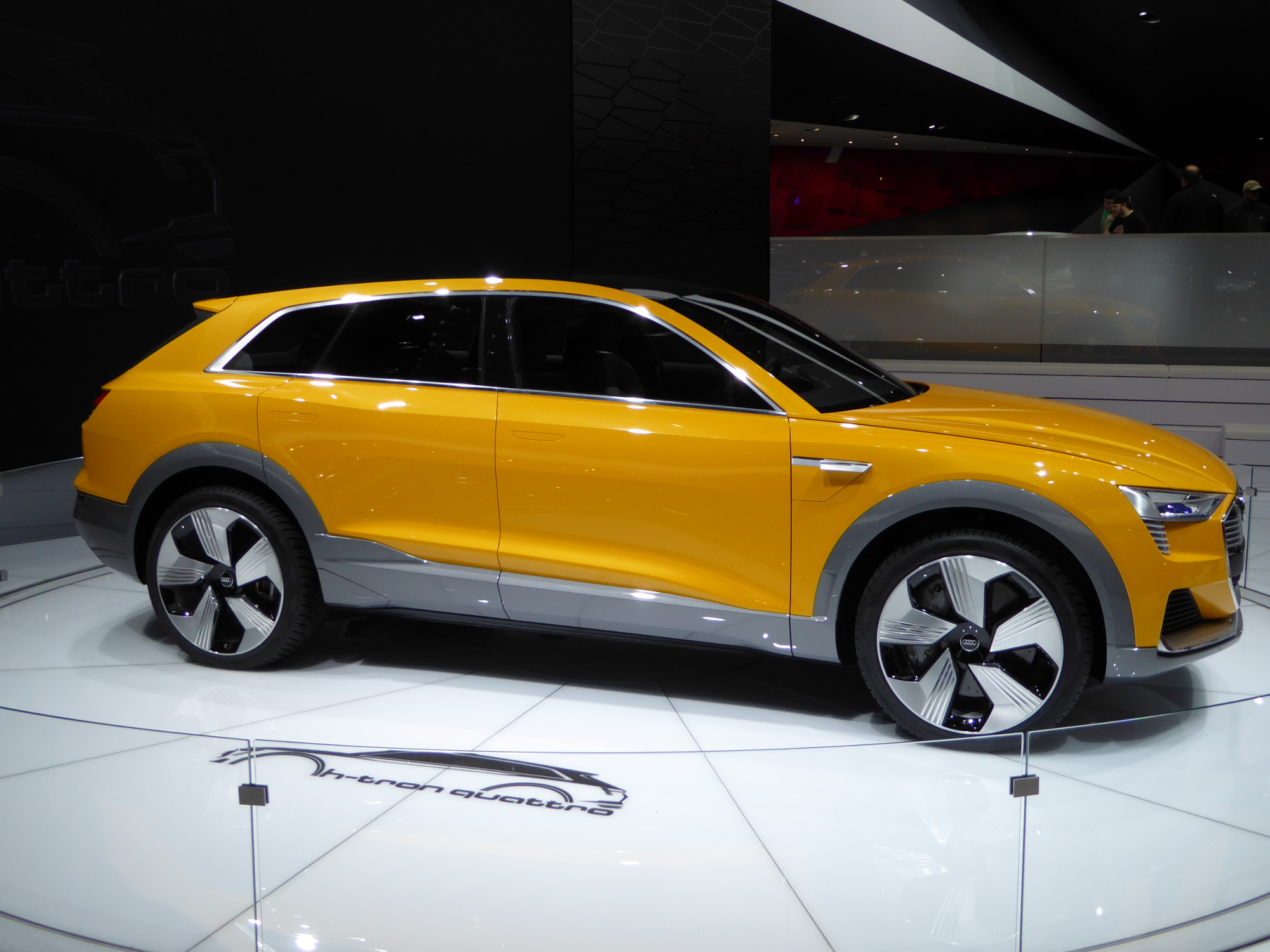 This is the Audi h-tron Quattro concept also at the North American International Auto Show in January 2016. Check out this video to hear & see Audi's vision at the NAIAS.
