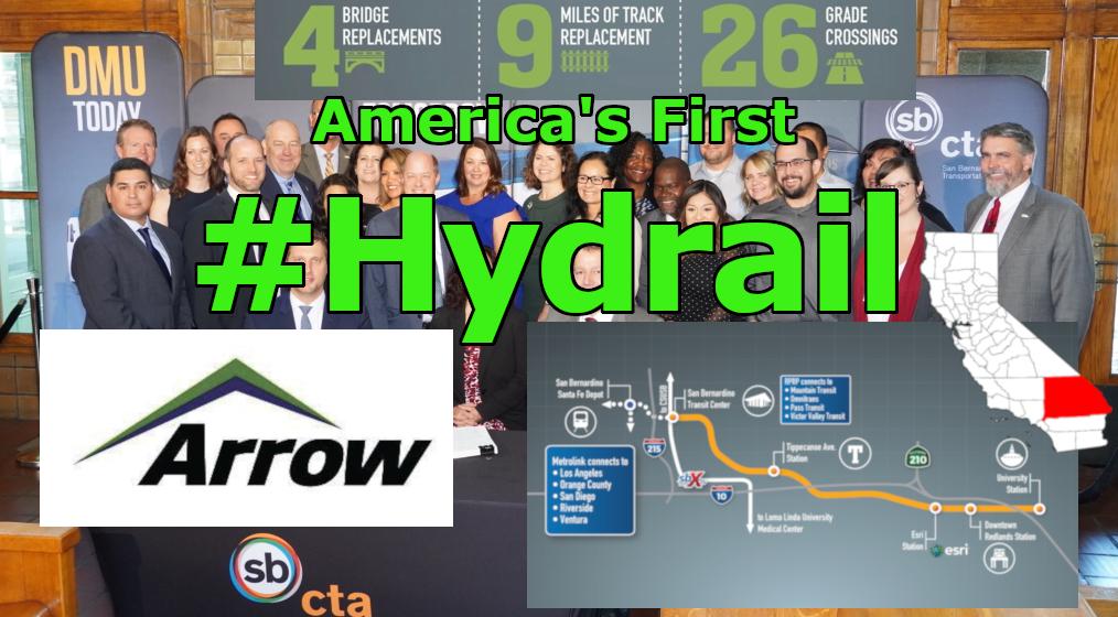 USA's First Hydrogen Passenger Rail – San Bernadino California